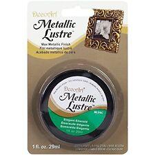 Decoart Metallic Lustre Wax Finish 1oz, Elegant Emerald
