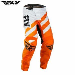 Fly Racing Bike F-16 BMX Youth Pant Motocross MX (Orange/White)