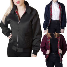 Womens Ladies Classic Retro Bomber Harrington Jacket Vintage 1970's Biker Coat