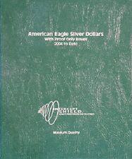 Intercept Shield Coin Album American Eagle Silver Dollars 2004-2012 + Proof USA
