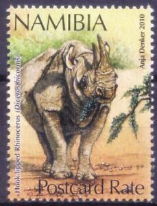 N8a- Namibia 2010 MNH, Hook Lipped Rhino, Wild Animals