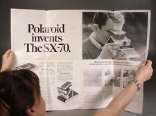 RARE 1972 POLAROID SX-70 INSTANT CAMERA INTRODUCTION STORE WINDOW DISPLAY POSTER