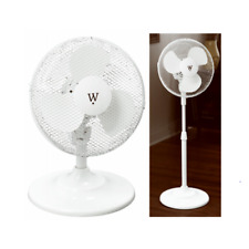 "12"" Portable Stand & Table Adjustable Fan with Oscillation - BRAND NEW"