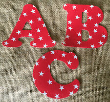 Red Stars Iron On Letters & Numbers - Perfect for Making Christmas Stockings