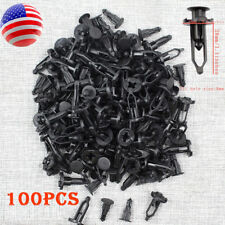 100pcs New Black Push-Type Fastener Rivet Retainer Clips for Toyota 52161-02020