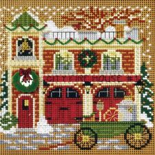 Firehouse Cross Stitch Kit Mill Hill 2009 Buttons & Beads Winter