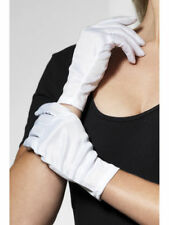 Short White Gloves Mime Act Santa Ladies Mens Fancy Dress Christmas Accessory