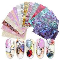Nail Foil Gradient Mermaid Flakes Nail Art Sticker Marble Slices Shell Abalone