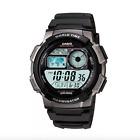 Casio Men's **AE-1000W-1BVEF** World Alarm Chronograph Black Resin Watch GENUINE