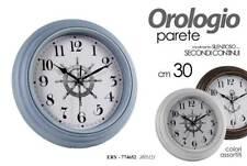 OROLOGIO 30 CM MARE TIMONE BARCA NAVE TONDO MODERNO PARETE COLOR ERY 774652