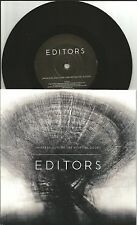 EDITORS Smokers Outside w/ UNRELEASED TRK LIMITED  UK 7 INCH Vinyl USA seller
