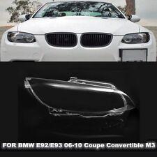 Right Headlight Headlamp Lens Cover For BMW E92 E93 Coupe M3 328i 335i Cabrio