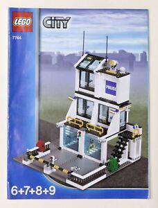 LEGO City - Manuale Istruzioni 7744 (6+7+8+9) - Stazione della Polizia