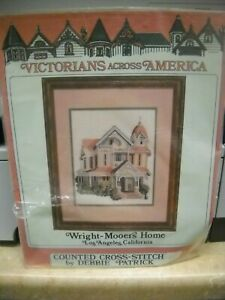 Debbie Patrick Counted Cross Stitch Kit - Wright Mooers Home - Unused