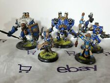 Warmachine Painted Cygnar 3 Warjacks & 2 Commander Lancer Ironclad Charger