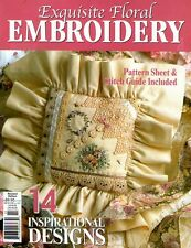EXQUISITE FLORAL EMBROIDERY  MAGAZINE  2003.  PATTERN SHEET INCLUDED