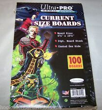 """1 Pack of 100 Ultra Pro 6 3/4"""" Current Comic Book Backer Backing Boards"""