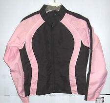 NexGen Textile Lightweight Motorcycle Jacket Black/Light Pink Womens 2XLarge