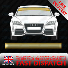 GOLD WINDSCREEN SUNSTRIP CAR VAN DECALS GRAPHICS STICKERS RACING VINYL
