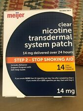 MEIJER Step 2 Clear Nicotine Patch - 14MG - 14 Count COMPARE TO NICODERM EXP3/22