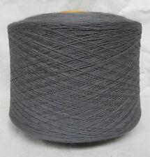 0851-34f) Nm 32/2 100% Merinowolle SCHIEFER Maschinenstricken, Garn, Wolle,Weben