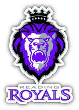 Reading Royals ECHL Hockey Logo Car Bumper Sticker Decal 4'' x 5''