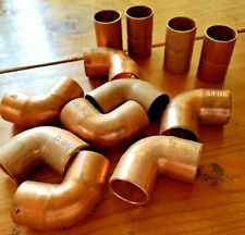 """Lot Of (12) Nibco Brand 3/4"""" Assorted Copper Fittings"""