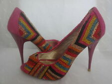 Dune Peep Toe Slim Multi-Coloured Heels for Women