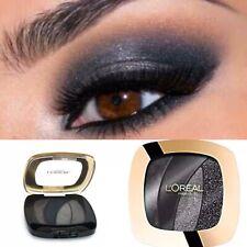 L'Oreal Quad Eyeshadow Shocking Magnetic Black Grey Smoky Smokey Eye Metallic