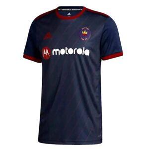 Chicago Fire Mens Soccer Jersey Adidas 2020 2021 Home Jersey Navy Red 2XL XXL