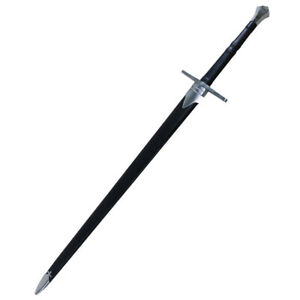"""Coldsteel 88Hnh Cold Steel Hand-And-A-Half 33-1/2"""" Sword Leather/Wood Scabbard"""