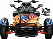 "Can Am Spyder F3 Decal Graphic Wrap kit - Hood & Fender kit ""Americana Desert"""