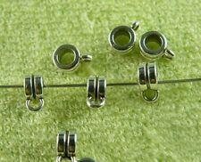 250pcs Tibetan Silver Beautiful Bails Craft DIY 9x4mm zn63507