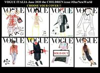Vogue Italia Magazine June 2020 The Children Issue SEALED #838 Choose your cover