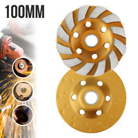 "4"" Diamond Segment Grinding Wheel Disc Grinder Cup Concrete Stone Cut 100mm New"