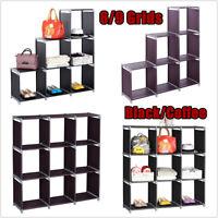 6/9 Cube 3 Tier Storage Shelf Organizer Rack Cabinet Closet Shelves Furniture US