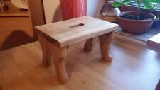 Schemel, Fußschemel, Fußbank aus Holz, Kirschbaum