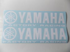 2 x YAMAHA FACTORY RACING Aufkleber - Weiss - 60 x 15cm - NEU