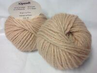 10 pelotes de laine  alpaga  beige rosée - extréme douceur  - Fabriqué en France