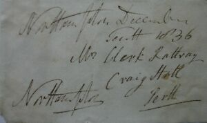 Free Front: 1836 to Perth from Spencer Compton, Marquess of Northampton.