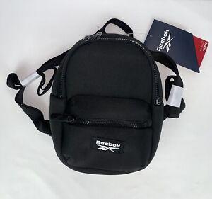 Reebok Mini Backpack Black 100% Polyester Lightweight NEW