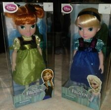 Disney Frozen Child Anna & Elsa Dolls 16 In. Tall Ages 3+