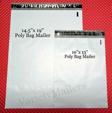 "20 Poly Bag Shipping Envelope Combo 10 ea 14""x19"" & 10""x13"" Self-Sealing Mailers"