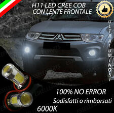 COPPIA LUCI FENDINEBBIA H11 LED CREE COB CANBUS MITSUBISHI L200 6000K