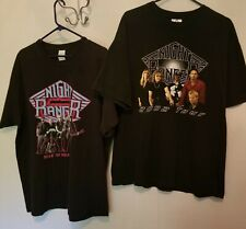 collectable mens lot of 2 Night Ranger tour tee shirts 1982 & 2002  size XL