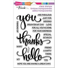 Stampendous Perfectly Clear STAMPS - Big Words Thanks