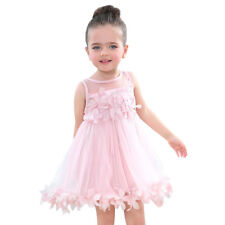 Flower Girls Summer Princess Dress Kids Baby Party Wedding Pageant Tutu Dresses