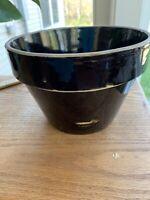 Vintage Beehive Mixing Bowl Brown Glazed Stoneware