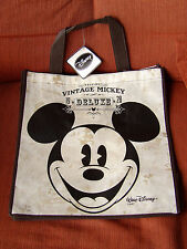 LOT OF 2 DISNEY MICKEY MOUSE VINTAGE CLASSIC SHOPPING TOTE BAG NEW WITH TAGS .
