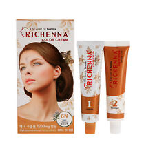 RICHENNA Hair Color Cream 1 Set  D.I.Y.Hair Coloring Contain Henna Reduce Damage